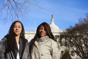 Yesenia and Neftali braved brutal cold at the Capitol last week to speak out about pesticide safety.
